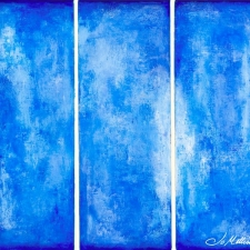 trey's blue heaven (triptych)