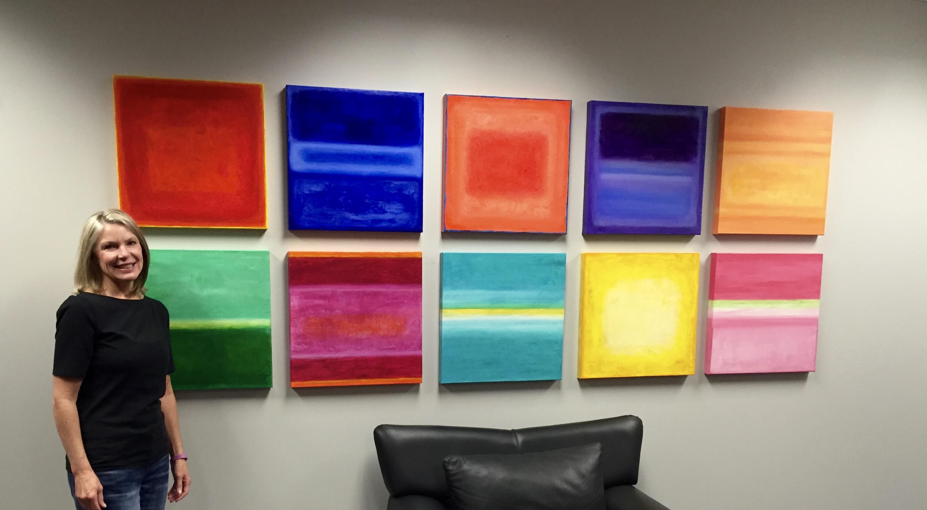 Color Blocks for office lobby